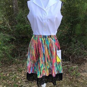 Multi Color Rainbow Skirt Size 12 Prabal Gurung